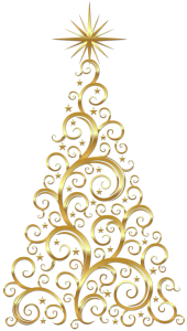Transparent_Gold_Deco_Christmas_Tree_Clipart